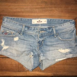 Hollister blue jean shorts